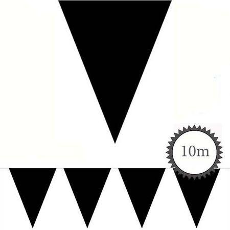 Wimpelkette schwarz unifarben 10m