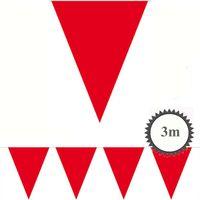 Mini Wimpelkette rot 3m