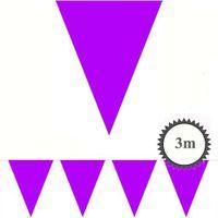 Mini Wimpelkette lila 3m