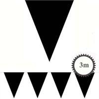 Mini Wimpelkette schwarz 3m