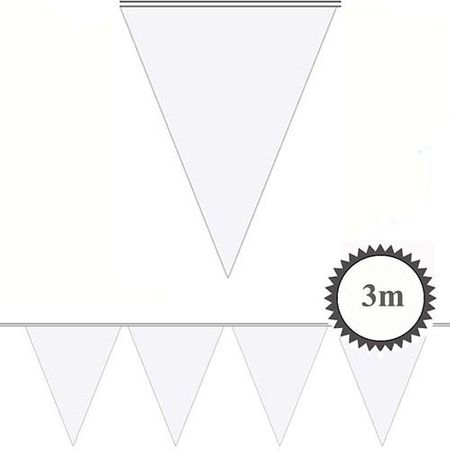 Mini Wimpelkette weiß 3m