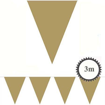 Mini Wimpelkette gold 3m