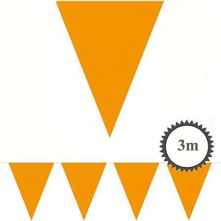 Mini Wimpelkette orange 3m