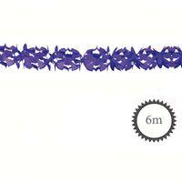 Wabenpapier Girlande lila 6m