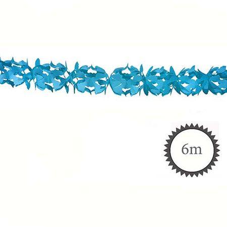Wabenpapier Girlande blau 6m