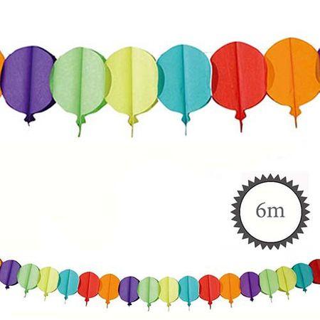 Papier Girlande Luftballonform bunt 6m