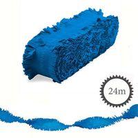 Krepp Girlande 24m blau
