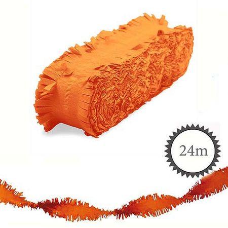 Krepp Girlande 24m orange