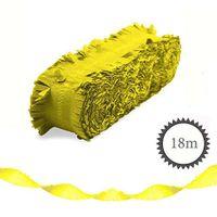 Krepp Girlande Neon 18m gelb