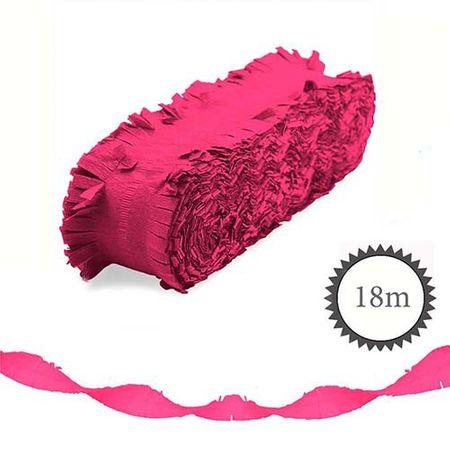 Krepp Girlande Neon 18m magenta