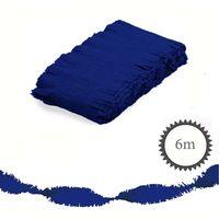 Krepp Girlande 6m blau