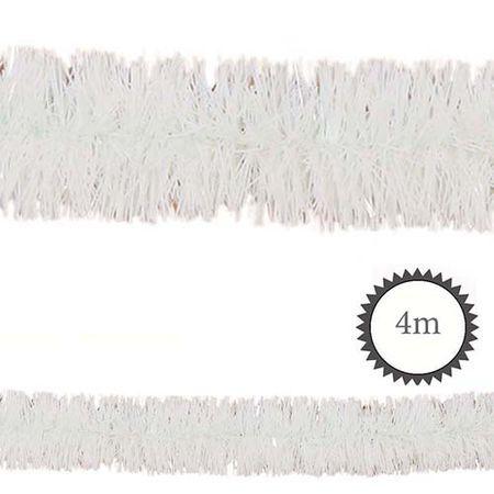 Folien-Girlande PET weiß 4m
