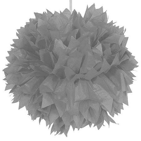 Pompom silber 30cm