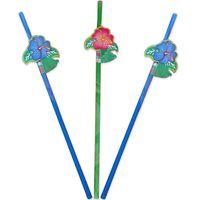 8 Trinkhalme Tropische Blume 24cm Bild 2