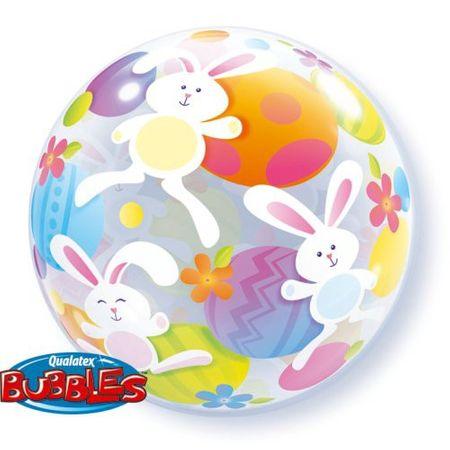 Bubble Ballon Ostereier und Hasen 56cm