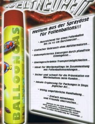 Helium-Spraydose