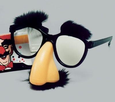 Scherz-Brille mit Nase, Bart, Augenbrauen