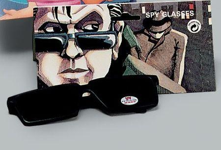 Scherz-Brille mit Rückspiegel
