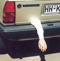 hängender Arm