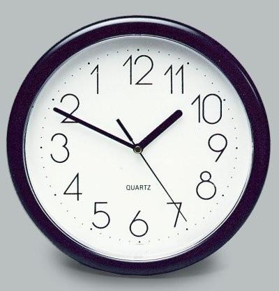 Rückwärts-Uhr rund