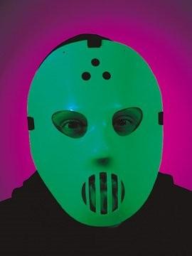 weiße Hockey Maske, leuchtend