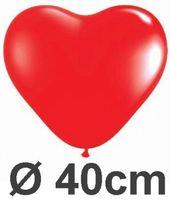 5 Herzballons Ø 40cm