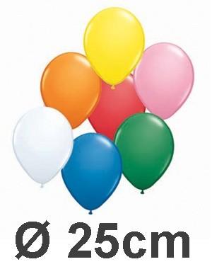 100 Rundballons von Qualatex in Pastellfarben Ø 25cm