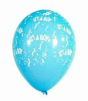 10 Rundballons von Qualatex It`s a Boy Ø 28cm