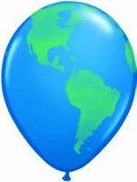 1 Rundballon mit Globusaufdruck Ø 90cm