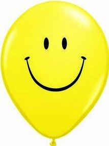 1 Rundballon von Qualatex Smiley Ø 90 cm