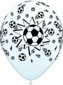 1 Rundballon von Qualatex Fussball Ø 90 cm