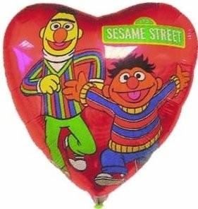 Folienballon Ernie&Bert Ø 45cm