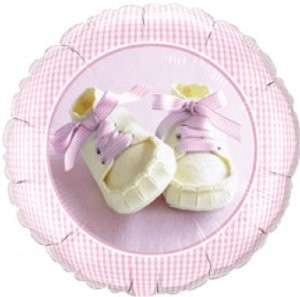 Folienballon Baby Girl Shoes Ø 45cm