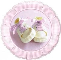 Folienballon Baby Girl Shoes Ø 45cm  001