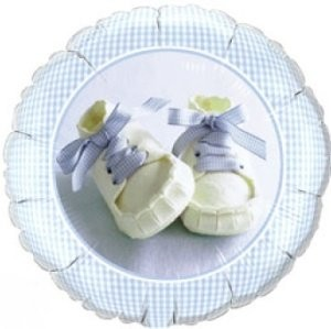 Folienballon Baby Boy Shoes Ø 45cm