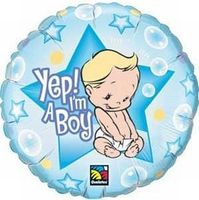 Folienballon Yes I`m a Boy Ø 45cm