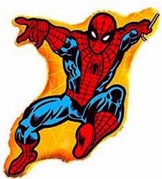 1 Folienfigur Spiderman Ø 81 cm