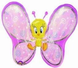 1 Folienfigur Schmetterling Tweety AUSLAUFARTIKEL Ø 69 cm