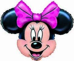 1 Folienfigur Minnie Mouse Ø 70 cm