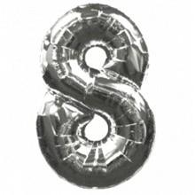 Folienballon Zahl 8 Ø100 cm