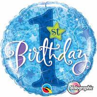 Folienballon 1st Birthday  45cm Bild 2