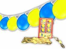 1 Polyfix Girlande mit 15 Ballons