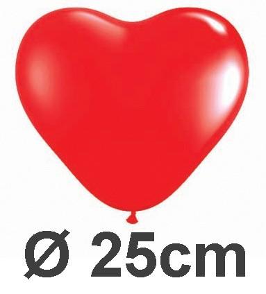 100 Herzballons Ø 25cm