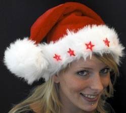 Weihnachtsmütze Superflausch mit 5 Sternen