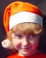 Kinder Weihnachtsmütze mit 2 Bommeln