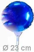 Folienballon Rund mit Stab Ø 23cm