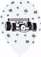 10 Rundballons Formel 1 Wagen Ø 30 cm