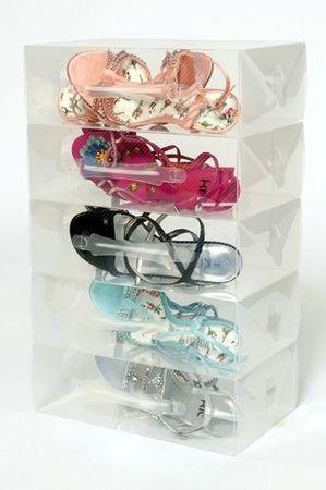 10 Schuhboxen für Damenschuhe