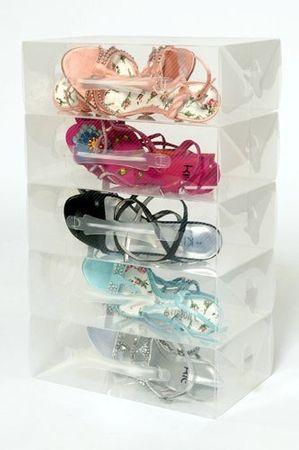 25 Schuhboxen für Damenschuhe