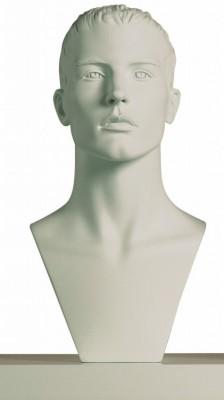 Dekorationskopf ADAM weiß